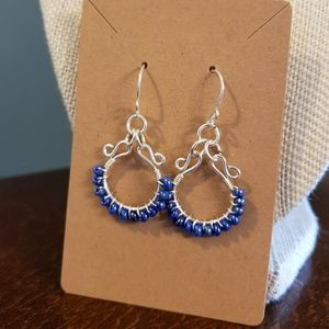 Artisan Blue Dangle Earrings